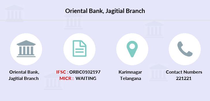 Oriental-bank-of-commerce Jagitial branch