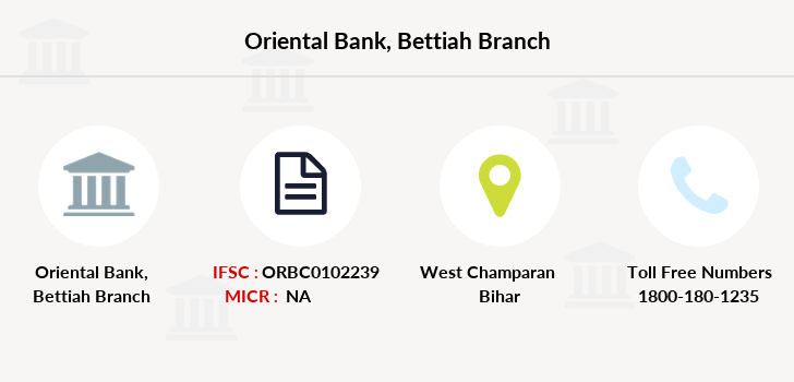 Oriental-bank-of-commerce Bettiah branch