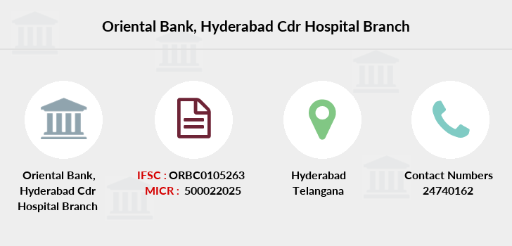 Oriental-bank-of-commerce Hyderabad-cdr-hospital branch