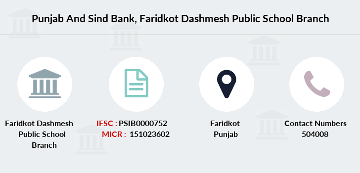 Punjab-and-sind-bank Faridkot-dashmesh-public-school branch