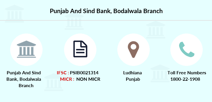 Punjab-and-sind-bank Bodalwala branch