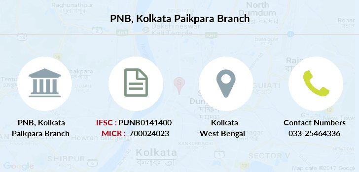 Punjab-national-bank Kolkata-paikpara branch