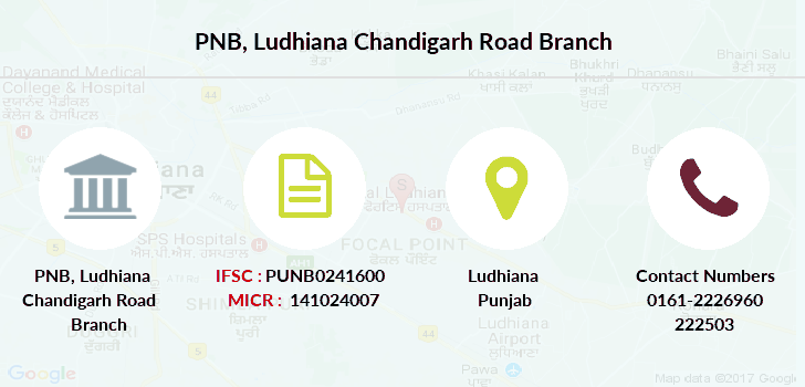 Punjab-national-bank Ludhiana-chandigarh-road branch