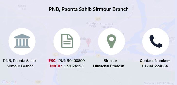Punjab-national-bank Paonta-sahib-sirmour branch