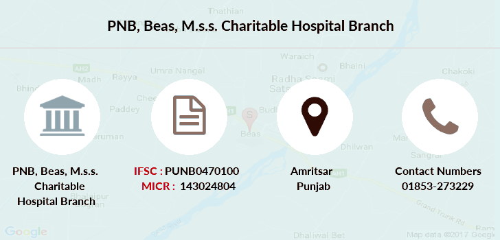 Punjab-national-bank Beas-m-s-s-charitable-hospital branch
