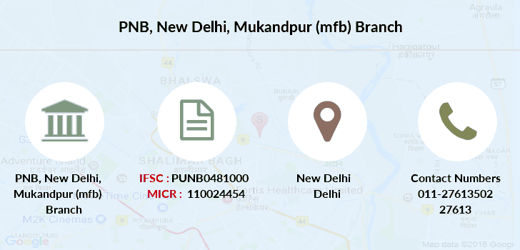 Punjab-national-bank New-delhi-mukandpur-mfb branch