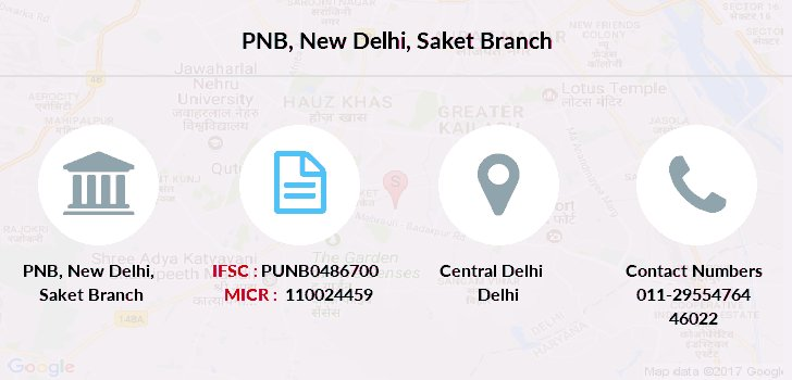 Punjab-national-bank New-delhi-saket branch