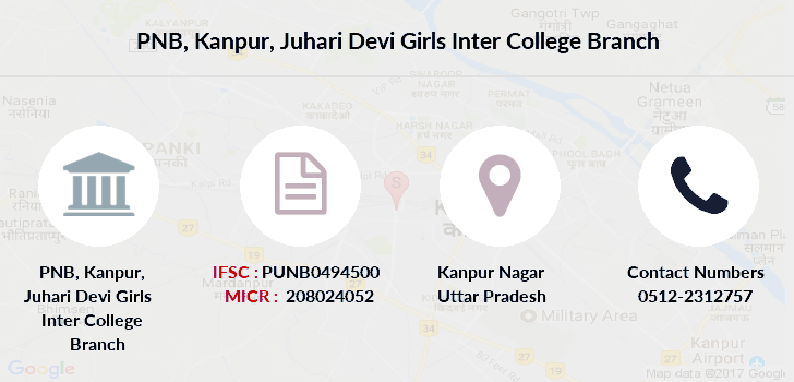 Punjab-national-bank Kanpur-juhari-devi-girls-inter-college branch