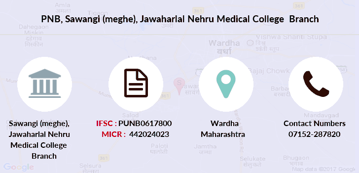 Punjab-national-bank Sawangi-meghe-jawaharlal-nehru-medical-college branch