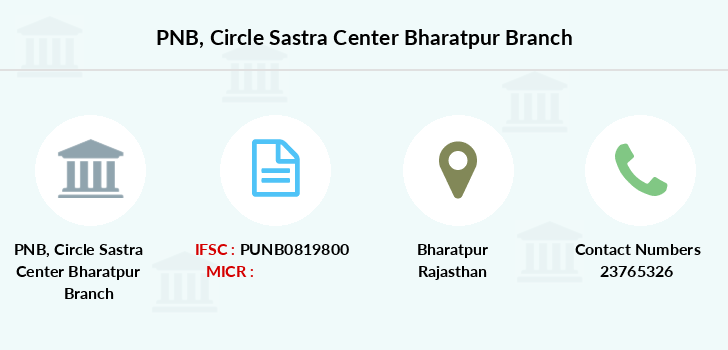 Punjab-national-bank Circle-sastra-center-bharatpur branch