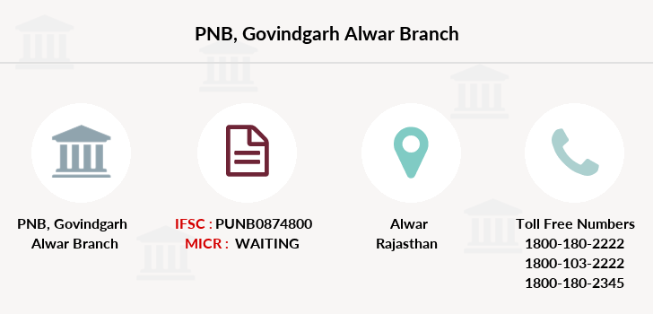 Punjab-national-bank Govindgarh-alwar branch