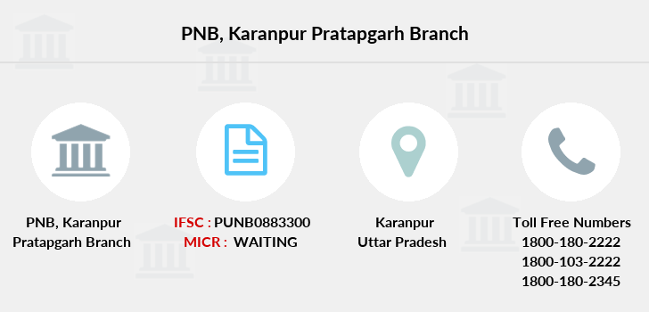Punjab-national-bank Karanpur-pratapgarh branch