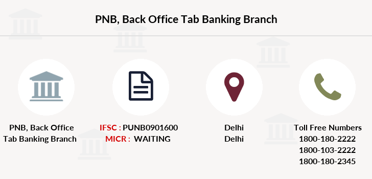 Punjab-national-bank Back-office-tab-banking branch
