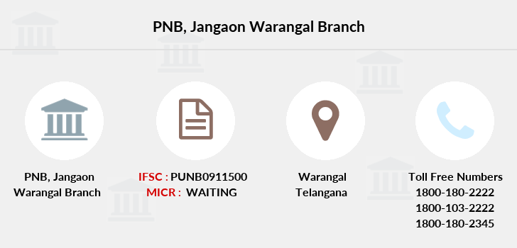 Punjab-national-bank Jangaon-warangal branch