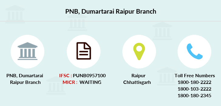 Punjab-national-bank Dumartarai-raipur branch