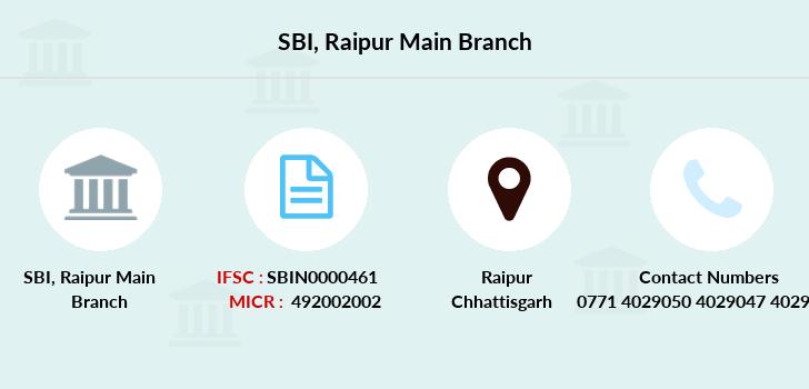 bank of baroda main branch raipur contact no