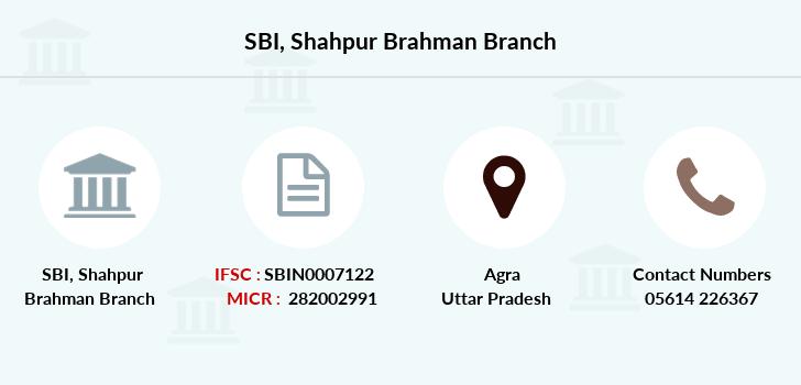 SBI Shahpur Brahman IFSC Code SBIN0007122