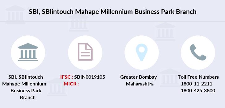 SBI SBIintouch Mahape Millennium Business Park IFSC Code