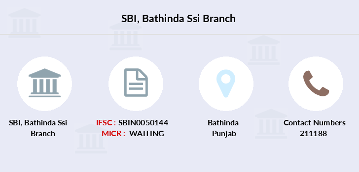 Sbi Bathinda-ssi branch