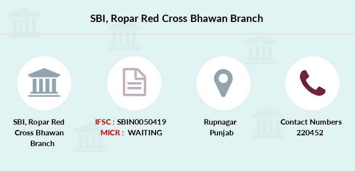 SBI Ropar Red Cross Bhawan IFSC Code SBIN0050419