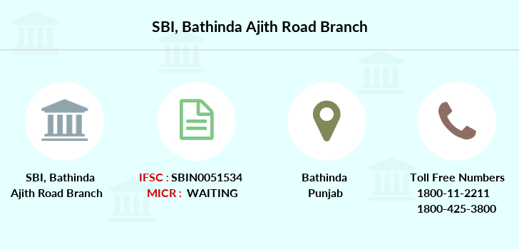 Sbi Bathinda-ajith-road branch