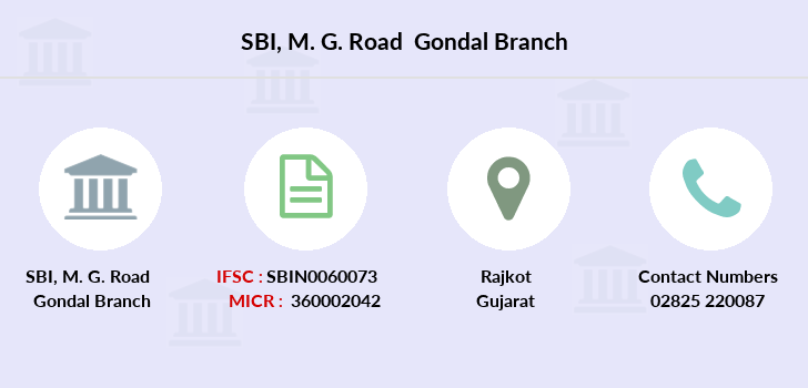 Sbi M-g-road-gondal branch