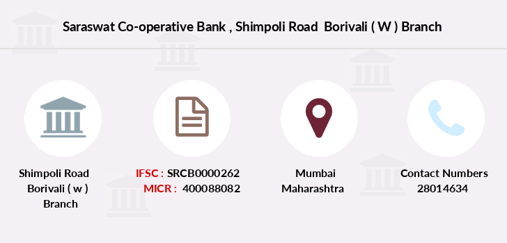 Saraswat-co-op-bank Shimpoli-road-borivali-w branch
