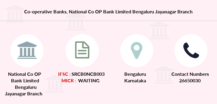 Co-operative-banks National-co-op-bank-limited-bengaluru-jayanagar branch