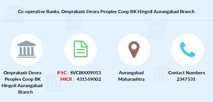 Co-operative-banks Omprakash-deora-peoples-coop-bk-hingoli-aurangabad branch
