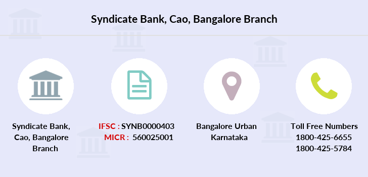 Syndicate-bank Cao-bangalore branch