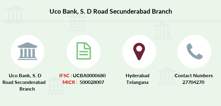 Uco-bank S-d-road-secunderabad branch