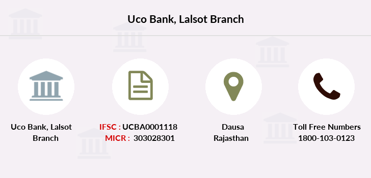 Uco-bank Lalsot branch