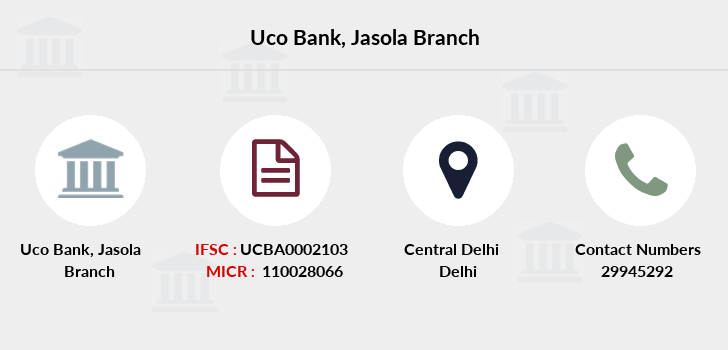 Uco-bank Jasola branch