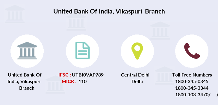 United-bank-of-india Vikaspuri branch