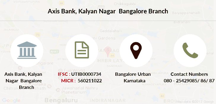Axis-bank Kalyan-nagar-bangalore branch