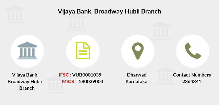 Vijaya-bank Broadway-hubli branch