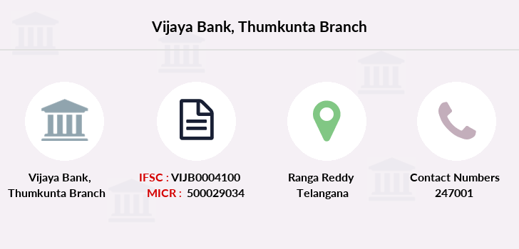 Vijaya-bank Thumkunta branch