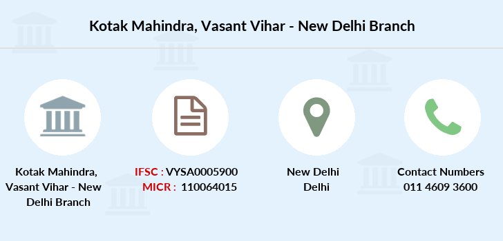 Kotak-mahindra-bank Vasant-vihar-new-delhi branch
