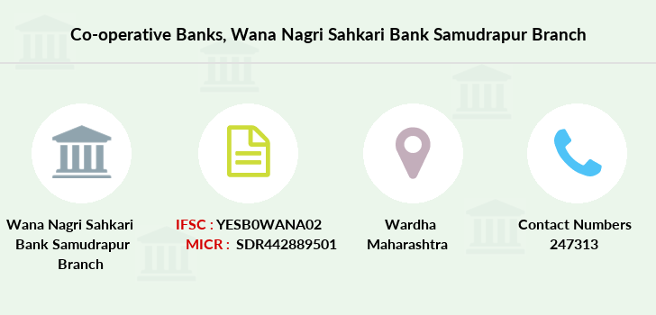 Co-operative-banks Wana-nagri-sahkari-bank-samudrapur branch