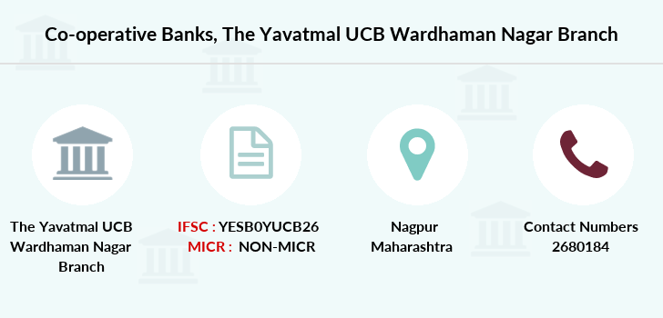 Co-operative-banks The-yavatmal-ucb-wardhaman-nagar branch