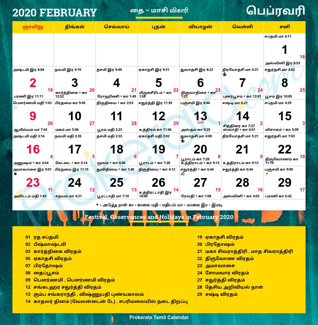 horoscope for february 2020 in tamil