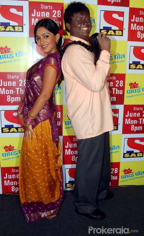 "Ami Trivedi and Swapnil Joshi at the Launch New Comedy Serial ""Papad Pol Shahabuddin Rathod Ki Rangeen Duniya"" Held at J W Marriott Juhu, Mumbai on 22nd June,2010"