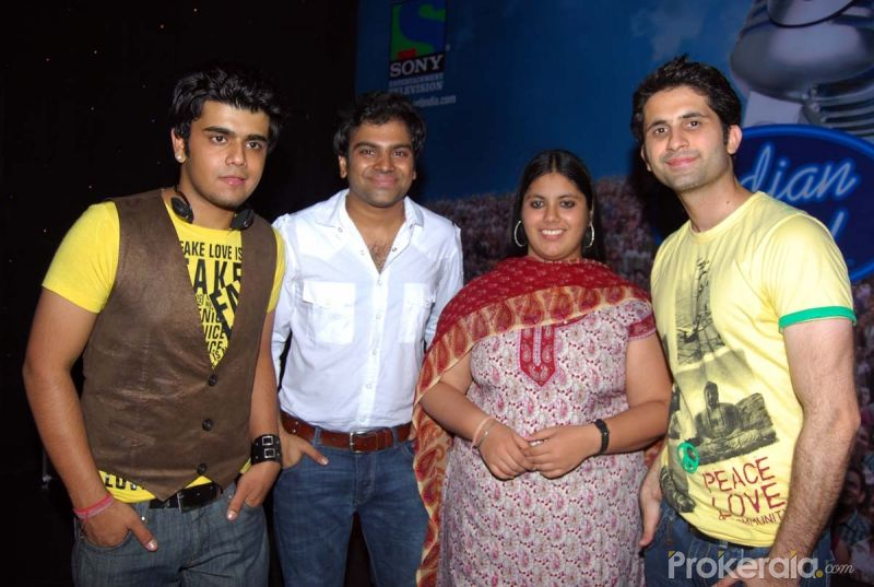 Yashraj Kapil, Sreeramchandra, Meghana Kumar and Arvind Gujral at the Press meet of Indian Idol finalists held at Hotel-ITC Maratha, Andheri on 6.May 2010