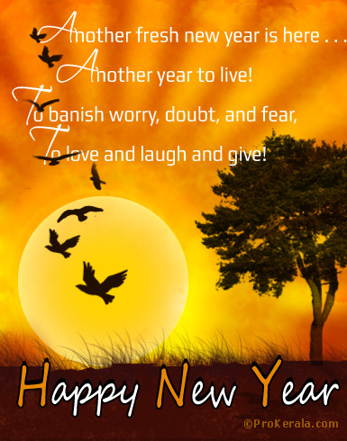 another fresh new year to live love laugh and give happy new year