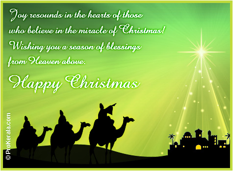christmas greeting card the miracle of christmas - Christmas Blessings For Cards