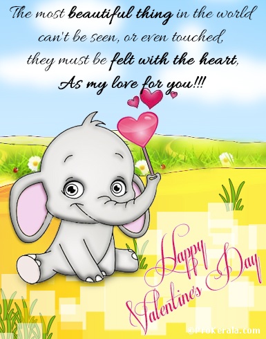 cute valentine s day card happy valentine s day prokerala