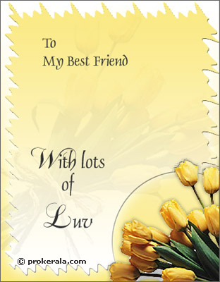 To My Best Friend- Wish Lots of Love