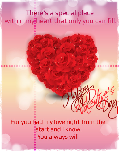 valentine greeting message beautiful valentines day card - Valentines Card Messages