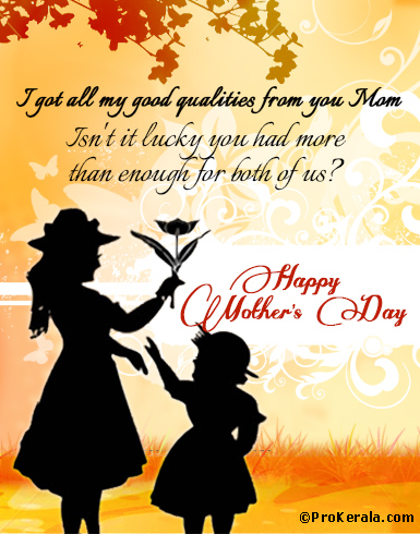 Happy mothers day greeting card mothers day wishes prokerala happy mothers day greeting card mothers day wishes m4hsunfo