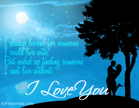 I love you card lovers moonlight love card prokerala greeting i love you card lovers moonlight love card m4hsunfo